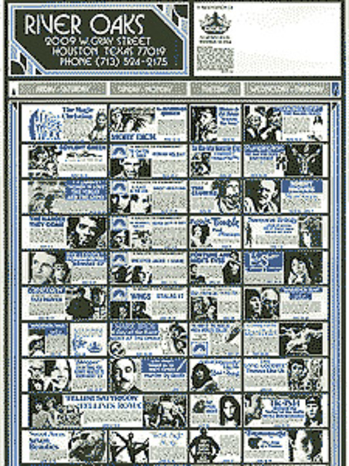 News_River Oaks Theatre_schedule_David Welling collection