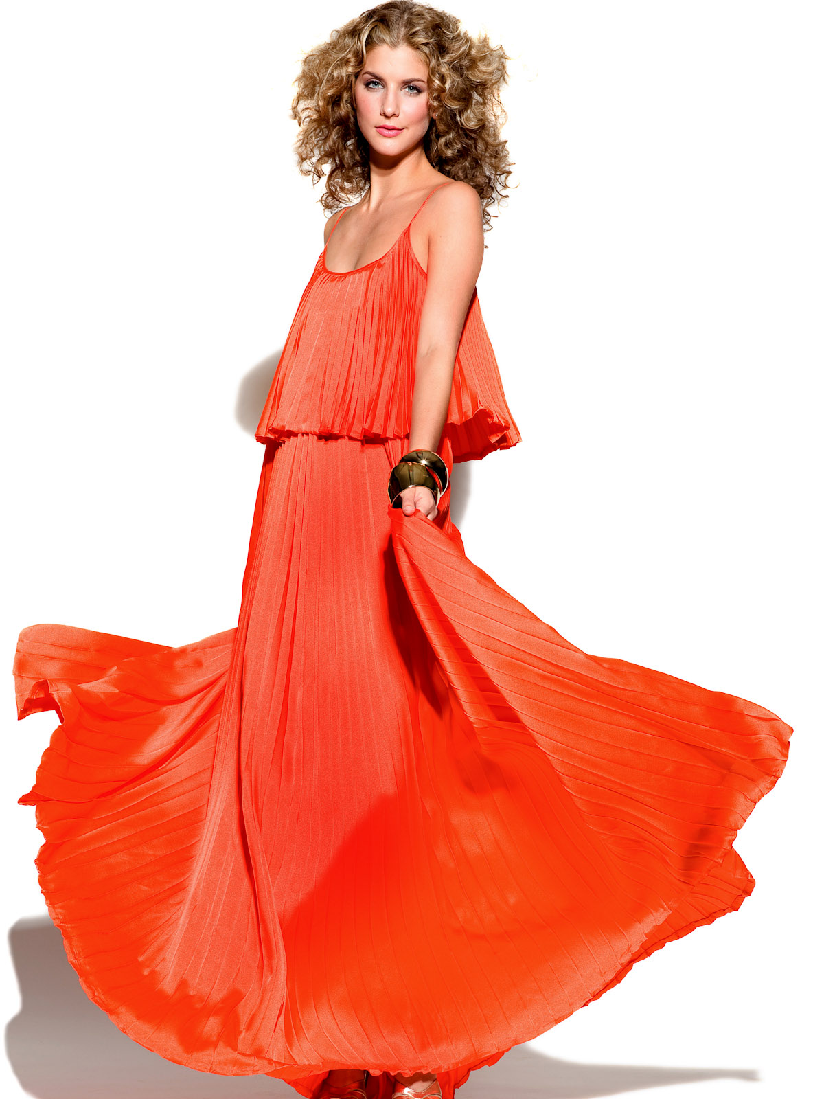 News_Heather Staible_Sex and the City_Halston Heritage_orange gown