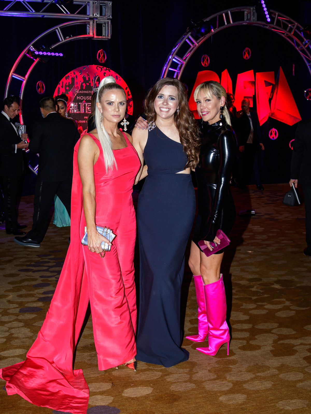 Kristin Smith, Alison Zelaya, Kimberly Aston at House of DIFFA 2018