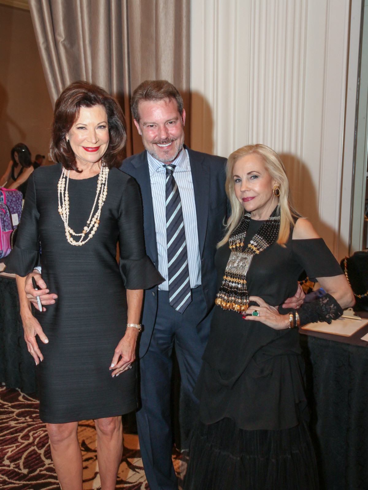 Blue Cure Betty Hrncir, Paul-David Van Atta and Honorary Chair Carolyn Farb