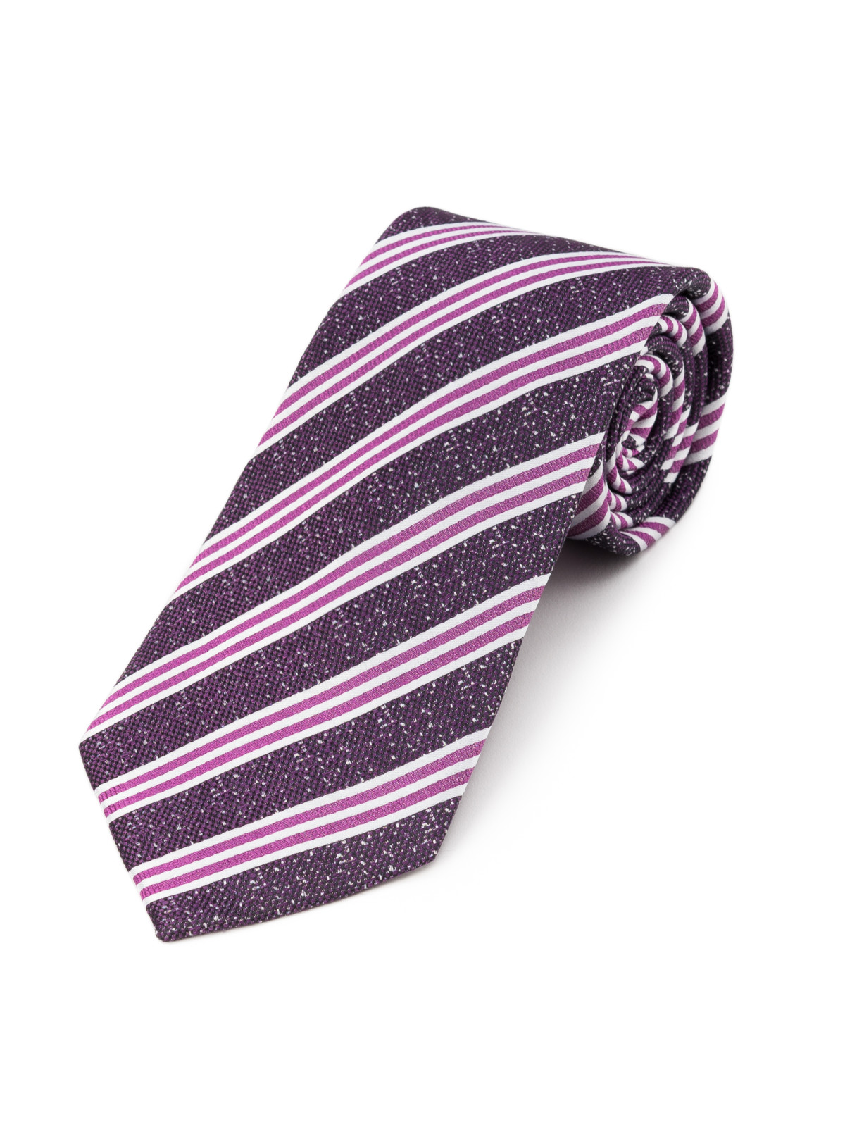Regency Striped Purple and Plum Tie