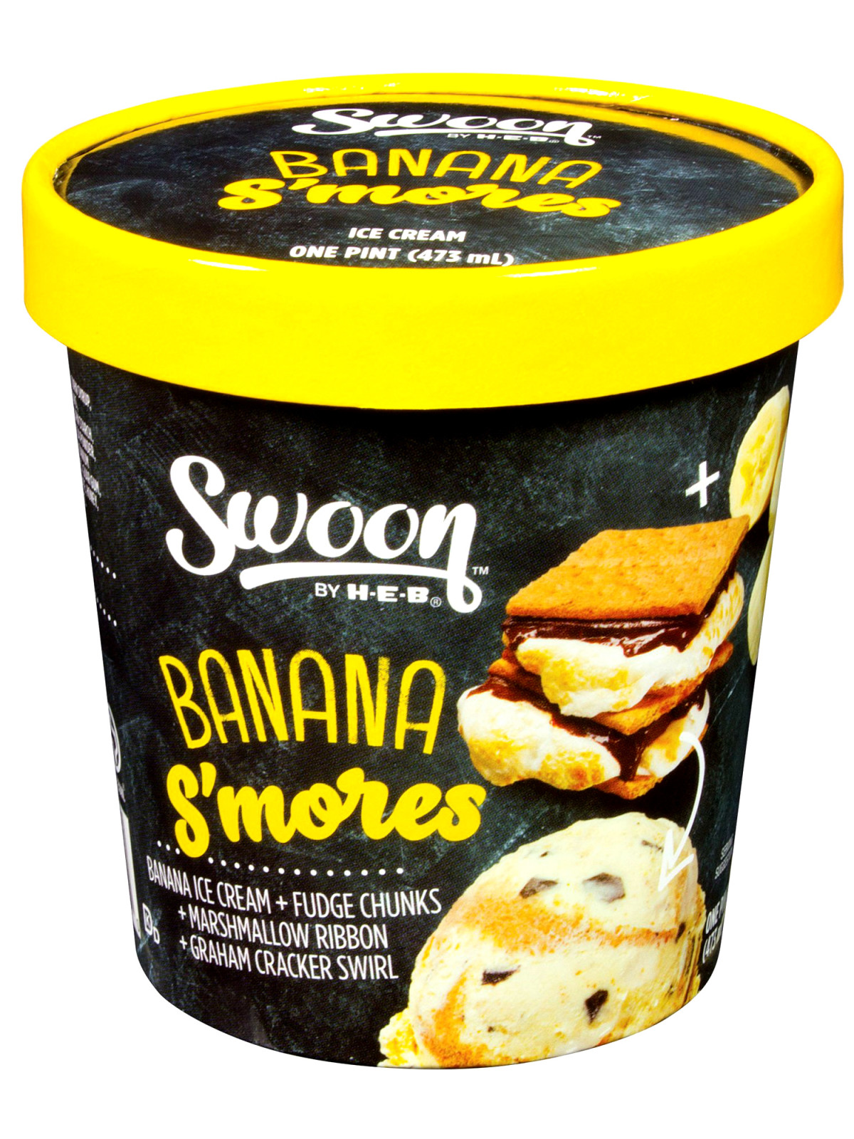 H-E-B Swoon ice cream Banana S'mores