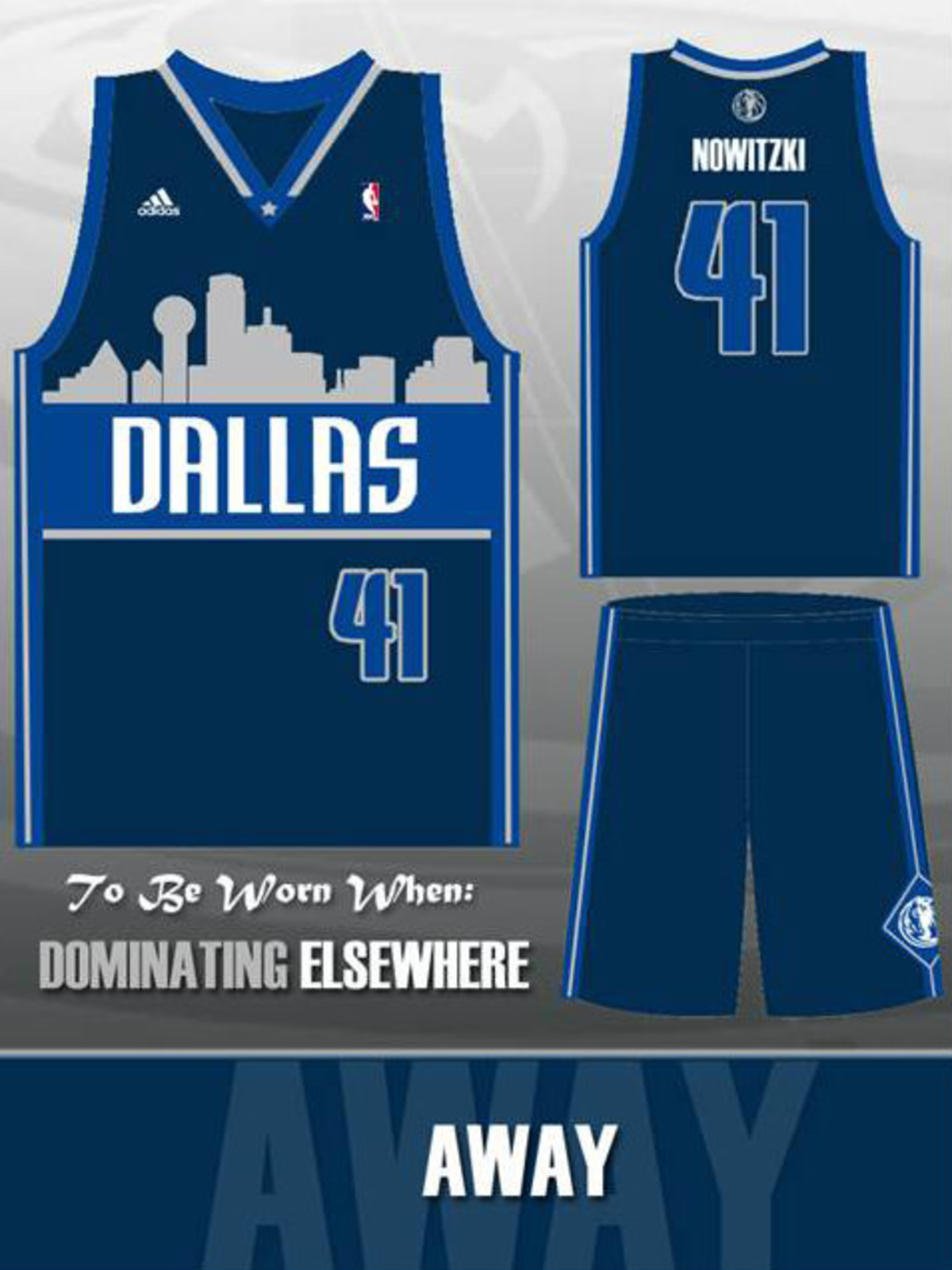 Dallas Mavericks jersey away