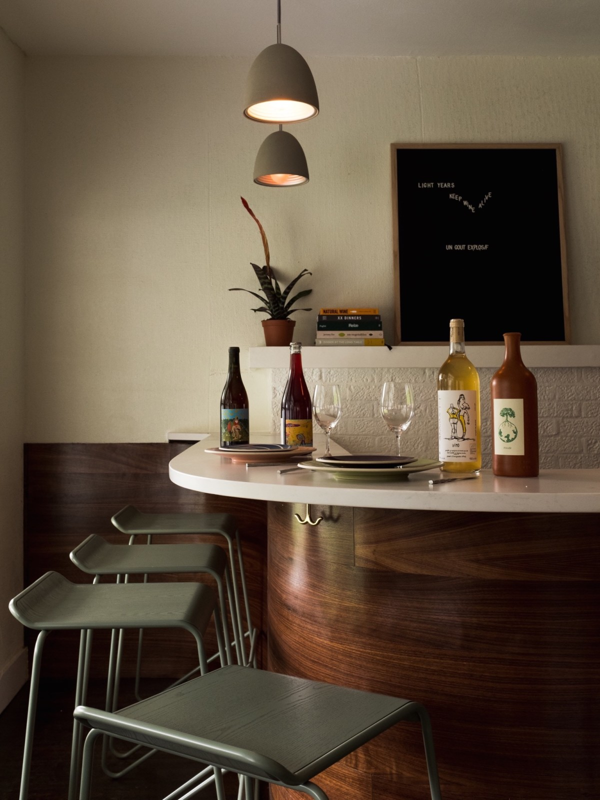 Light Years wine bar interior