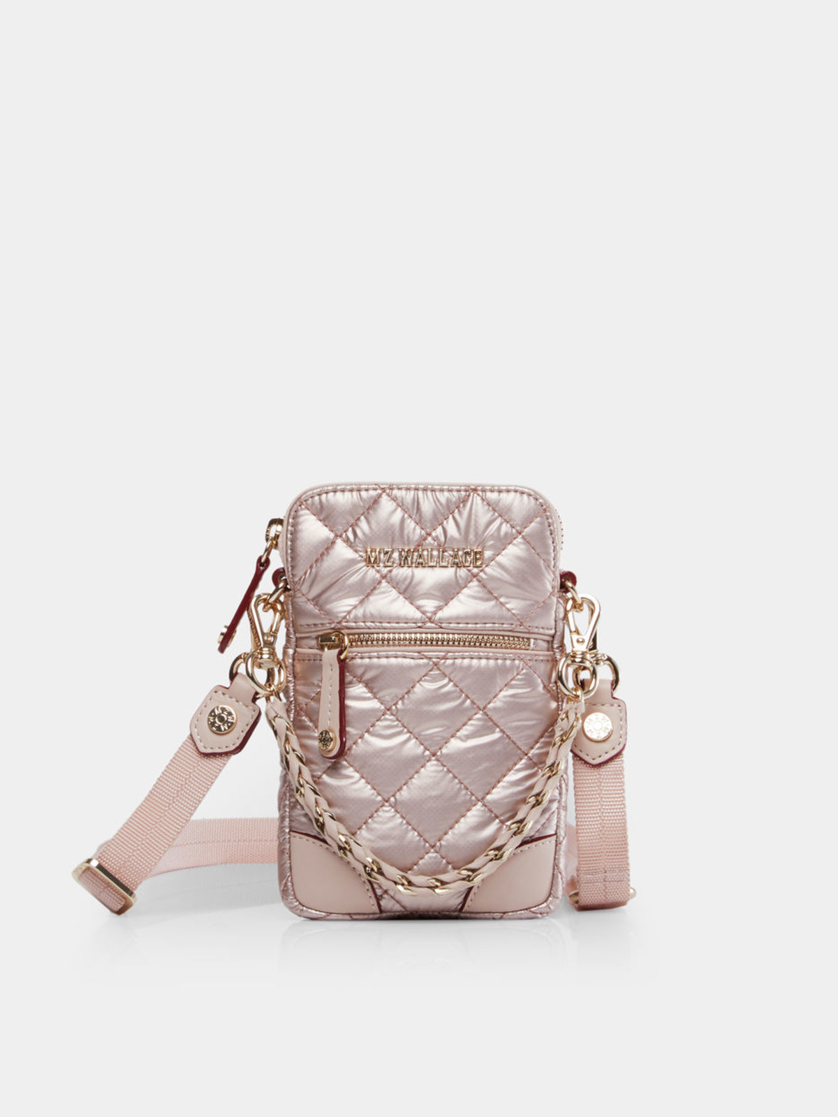 M Penner: MZ Wallace Rose Gold Metallic Micro Crossbody
