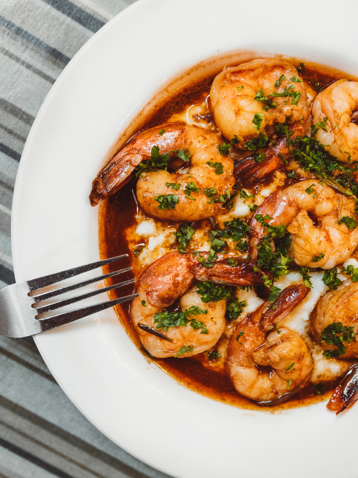 Treebeards barbecue shrimp and grits Dominick Lee Poitin