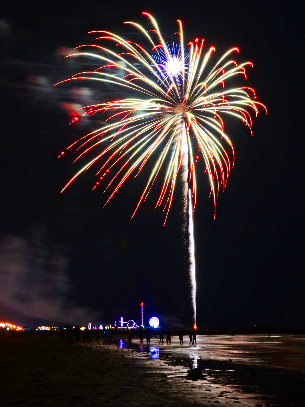 Fireworks over Galveston
