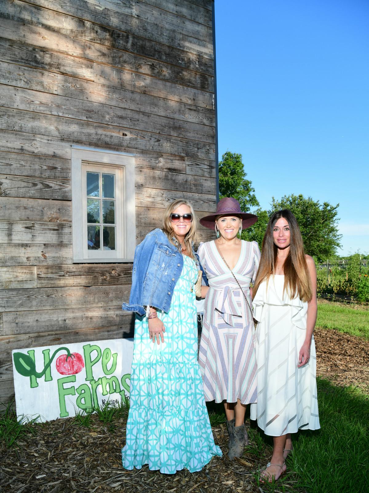 Chefs in the Field Hope Farms Summer 2019 Melissa Sugulas, Amanda Boffone, Elizabeth Dwyer