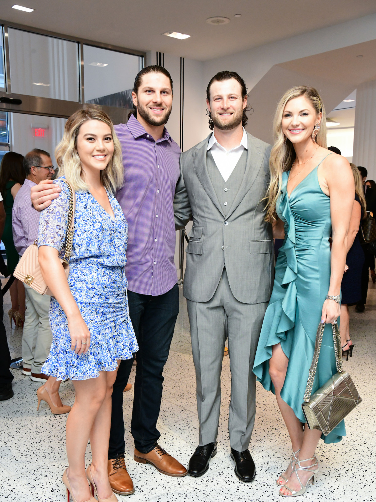Houston Astros Team Up 4 Kids and K9s 2019 Brittany Perry, Jake Marisnick Gerrit Cole, Amy Cole