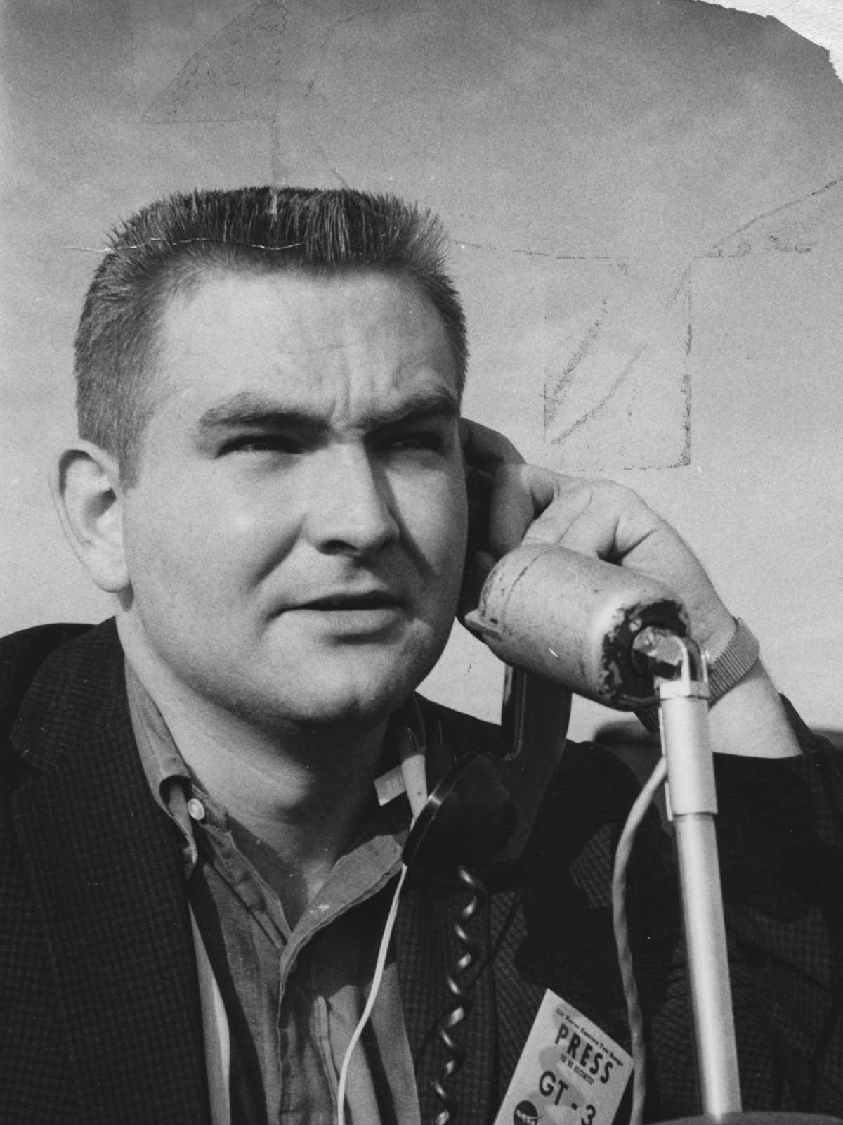 Dave Ward covering the Gemini 3 Mission in March, 1965
