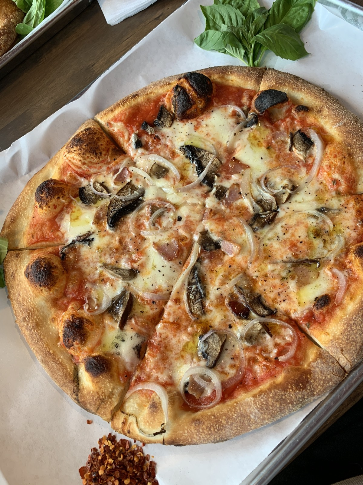 The Gypsy Poet mushroom pizza