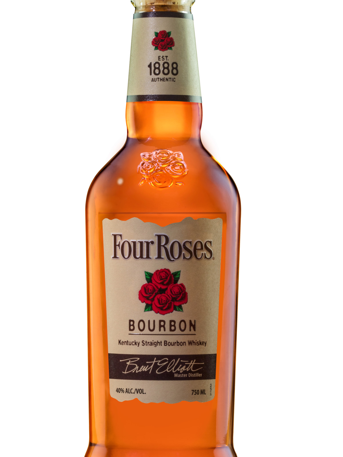 Bottle of Four Roses bourbon