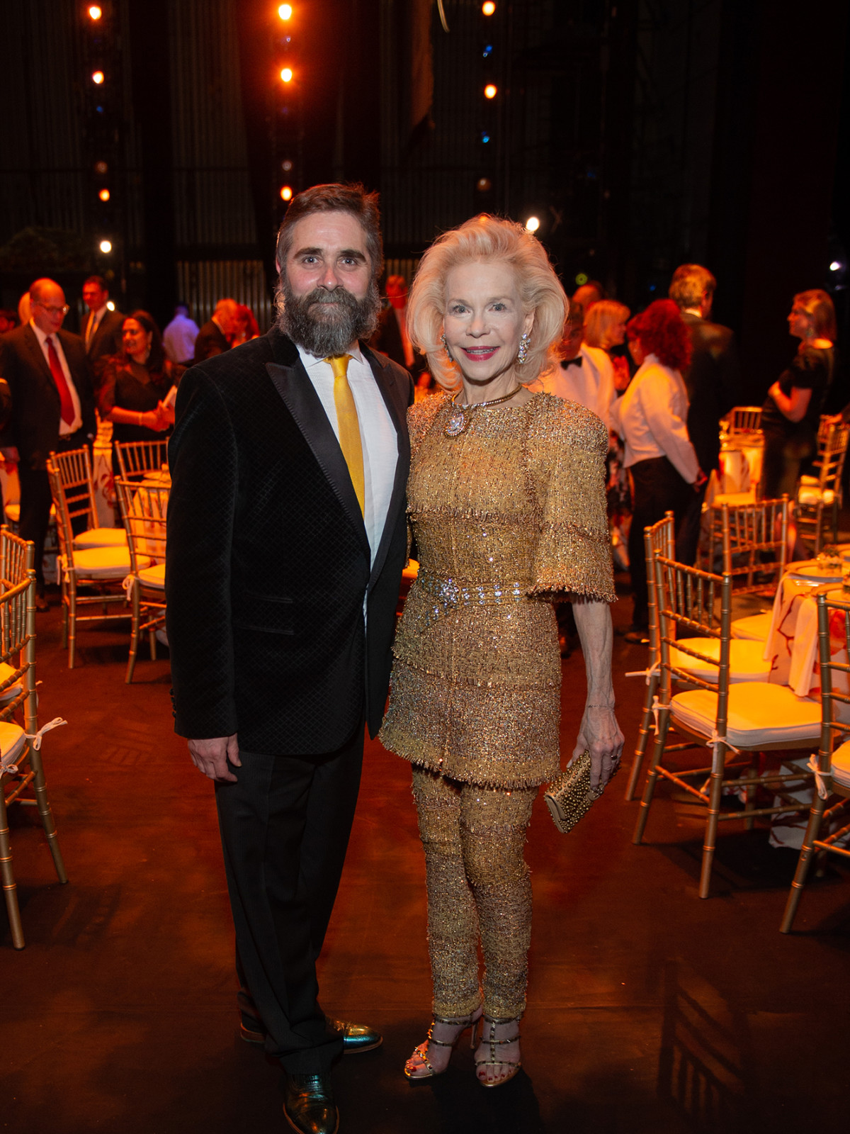 Houston Ballet Onstage Dinner Stanton Welch and Lynn Wyatt