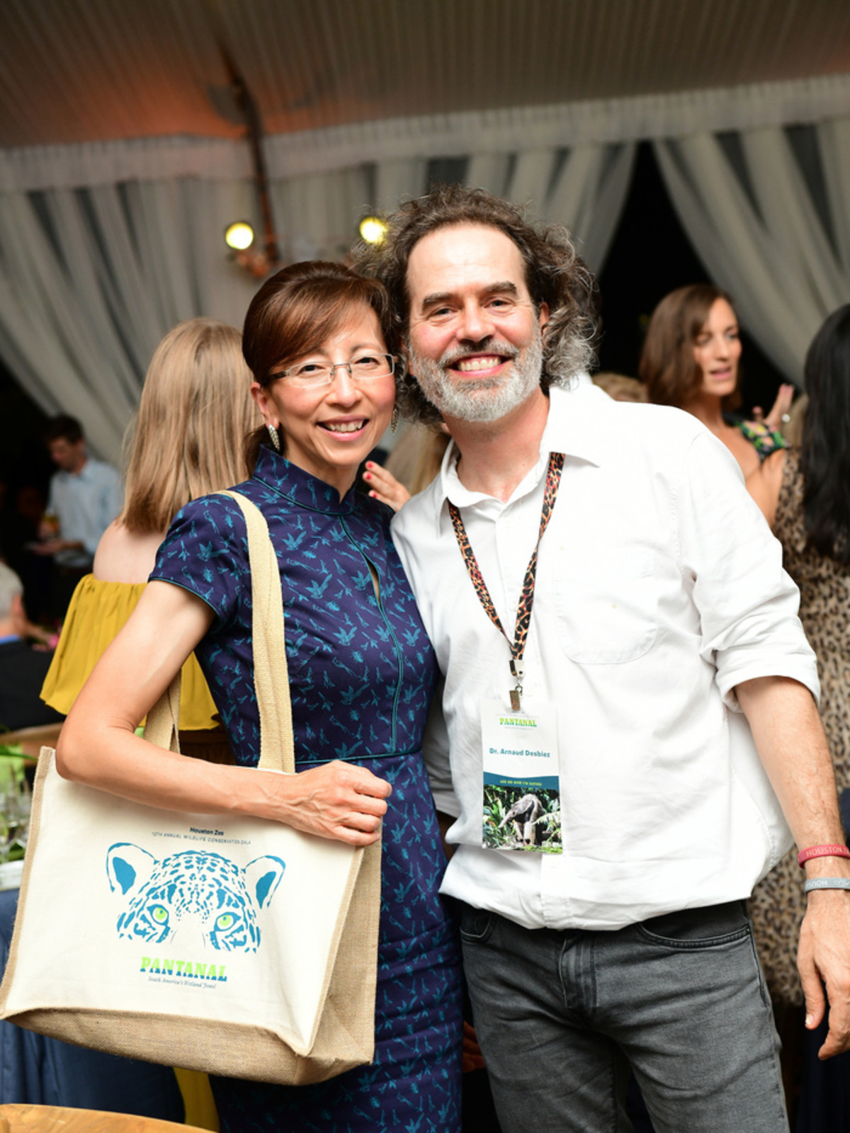 Houston Zoo Conservation Gala 2019 Trang Cormack and Dr. Arnaud Desbiez