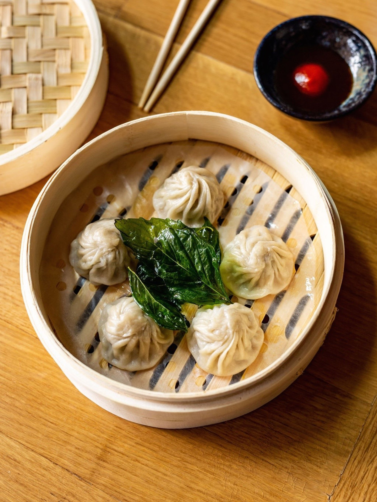 Traveler's Table pho soup dumplings
