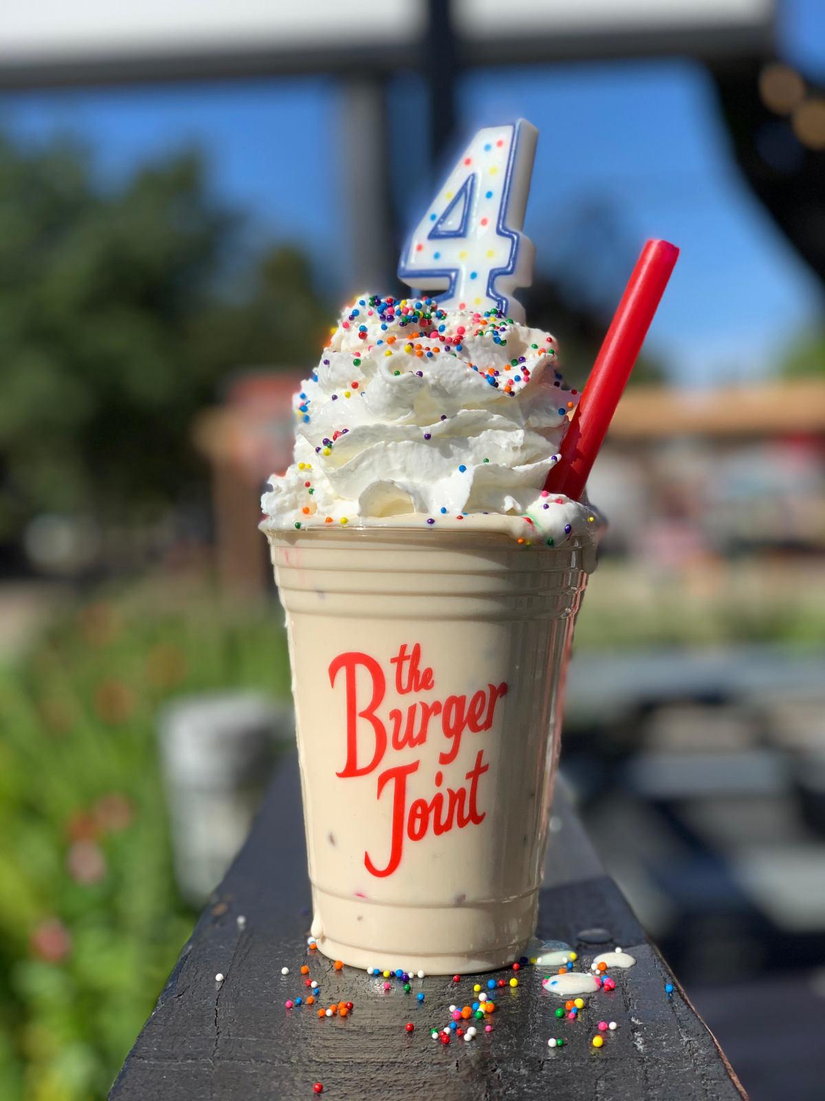 Burger Joint Cookie Butter milkshake