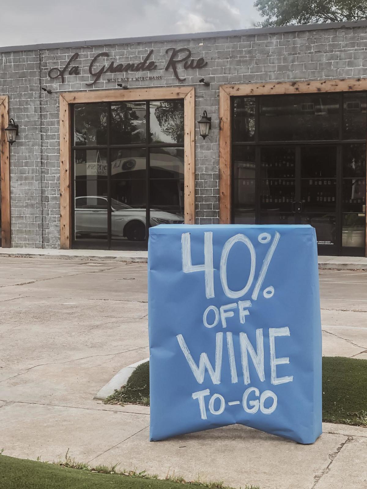 La Grande Rue wine discount sign