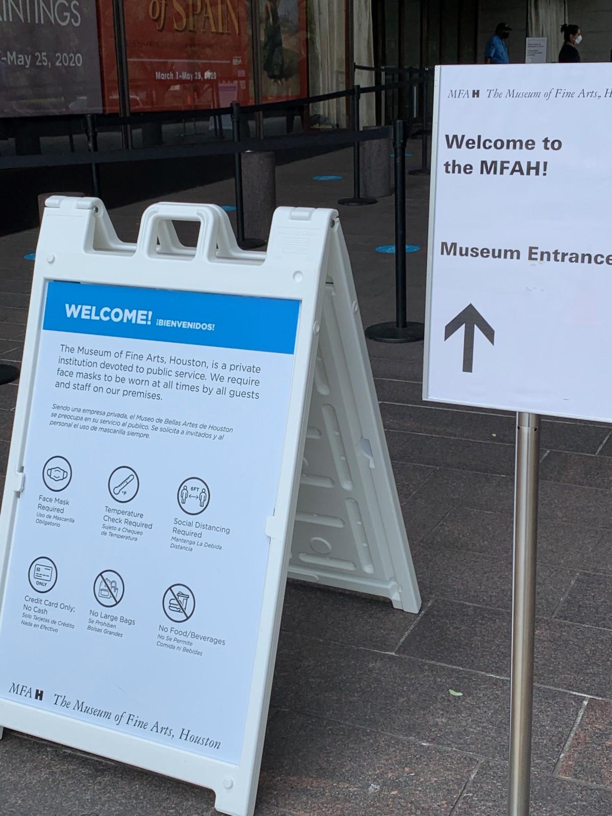 MFAH new entrance signs
