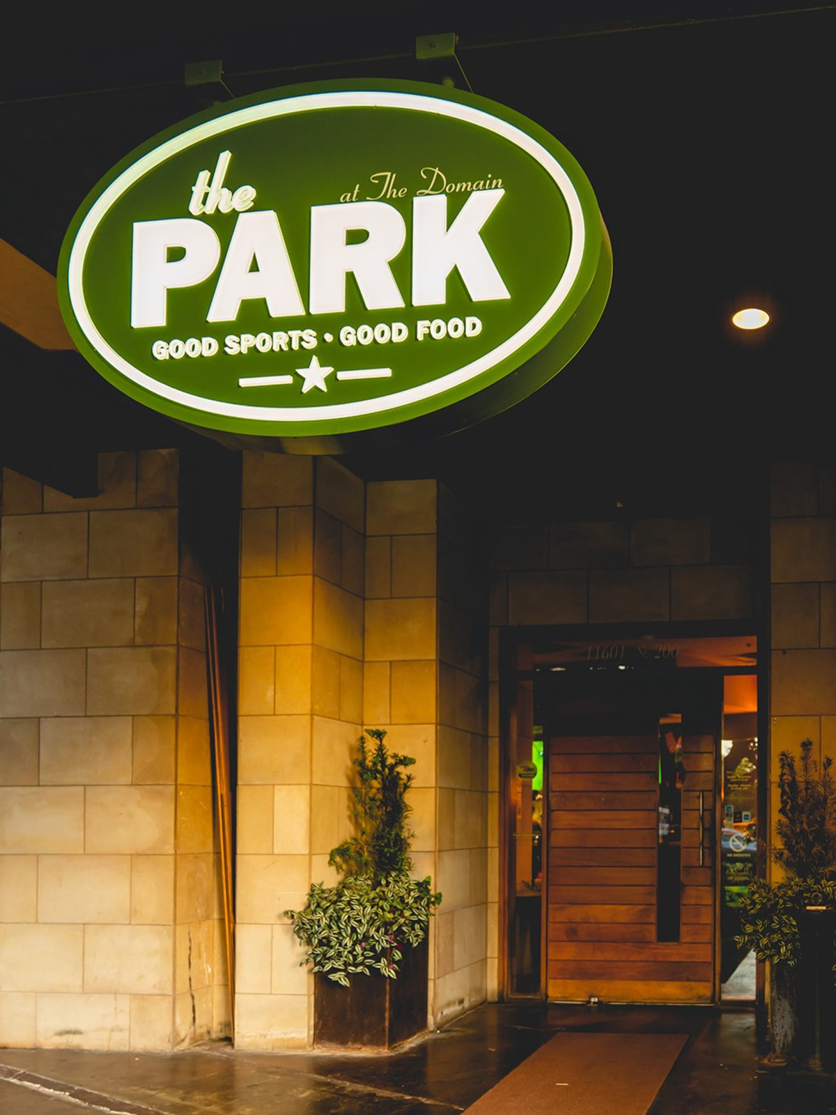 The Park at the Domain sign
