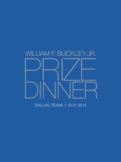 2015 William F. Buckley Prize Dinner