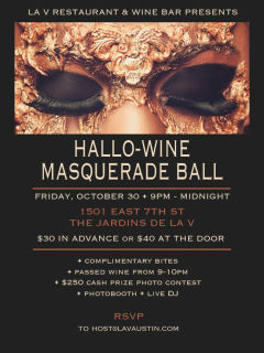 laV presents Hallo-Wine Masquerade Ball
