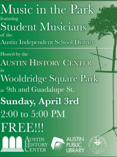 Austin History Center presents Music in the Park
