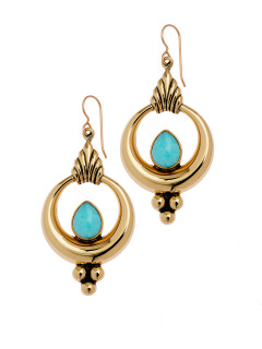 Tantrika earring with Amazonite by Marah Design