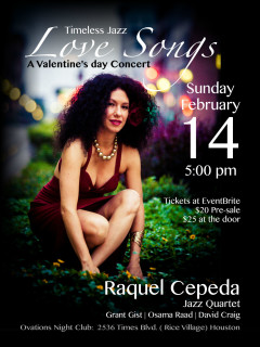 Raquel Cepeda Jazz Quartet presents Timeless Jazz Love Songs