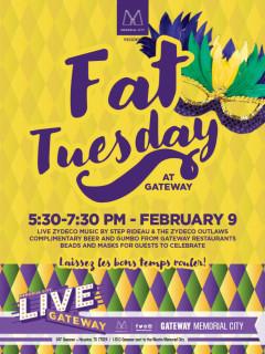 Memorial City presents Fat Tuesday at Gateway