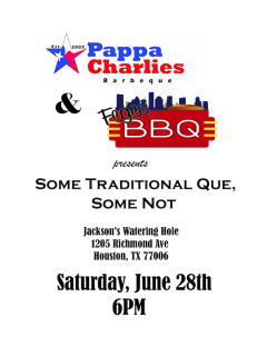"""Pappa Charlies Barbeque and Feges BBQ host """"Some Traditional Que, Some Not"""""""