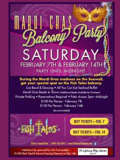 Fish Tales Mardi Gras Balcony Party