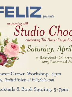 Flyer promoting an evening with Studio Choo at Rosewood Collective