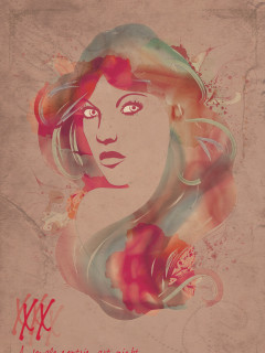 XX Female-centric art show at Elysium poster