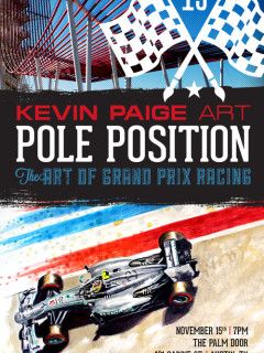 poster for Pole Position Art of Grand Prix Racing at Kevin Paige Art