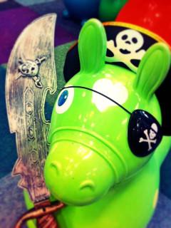 toy pirate donkey at Toy Joy