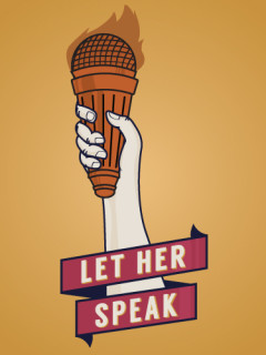 logo for Let Her Speak supporting Wendy Davis