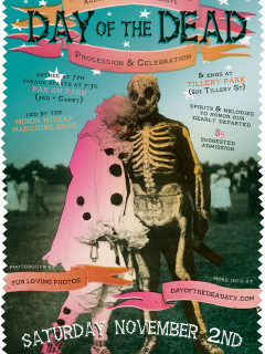 poster for Krewe du Bijoux Day of the Dead