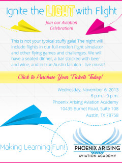 Ignite the Light with Flight fundraiser at Phoenix Arising