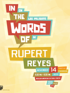 poster for In the Words of Rupert Reyes at Teatro Vivo