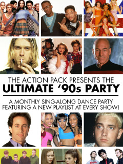 poster for Ultimate '90s sing along at the Drafthouse