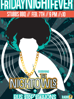 poster for the Nightowls performing at Stubb's