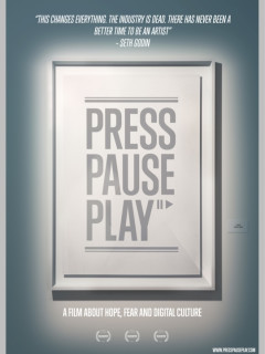 poster for documentary film PressPausePlay