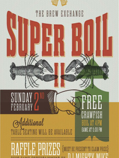 poster for the Super Boil II at the Brew Exchange
