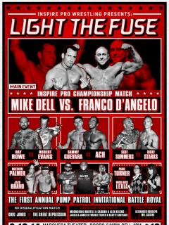 poster for Inspire Pro Wrestling show Light the Fuse