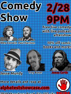 poster for Alpha Test Comedy Show VI: City Under Siege
