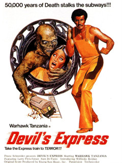 poster for film Devil's Express for Terror Tuesday series