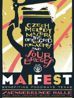 poster for 2014 Maifest at Saengerrunde Hall