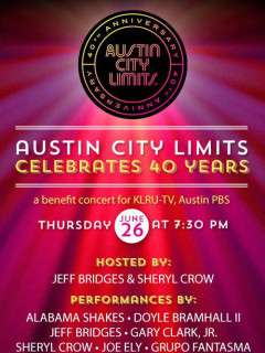 poster for Austin City Limits celebrates 40 years