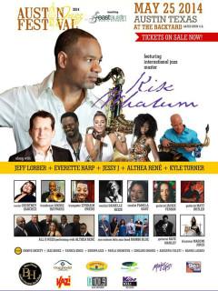 poster for 2014 Austin Jazz Festival at The Backyard