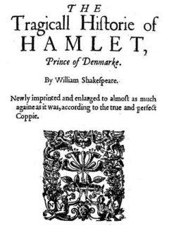 original cover of William Shakespeare's Hamlet